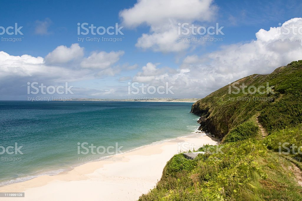 Carbis Bay beach near St Ives in Cornwall, England royalty-free stock photo