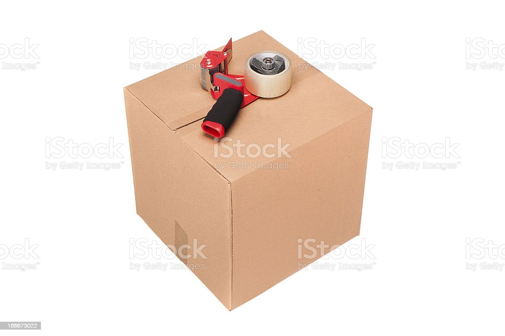Carboard box royalty-free stock photo