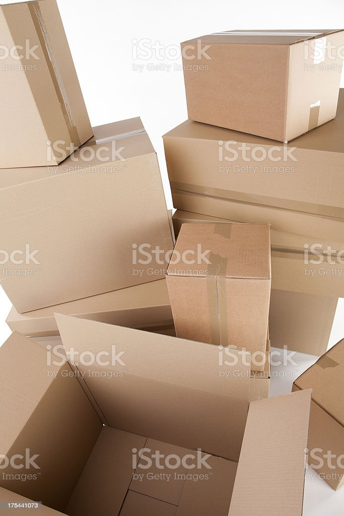 Carboard boxes royalty-free stock photo