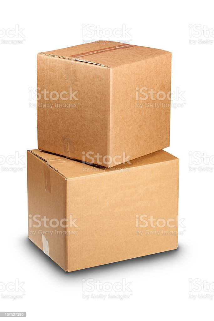 Carboard Boxes with Clippping Path royalty-free stock photo