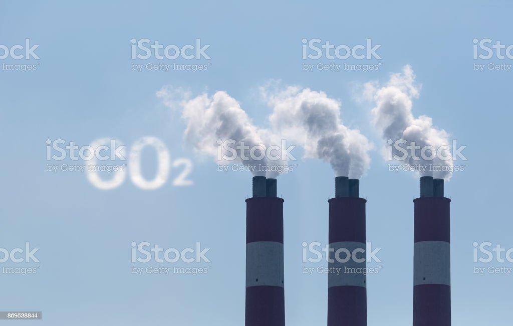 carbon dioxide emission stock photo