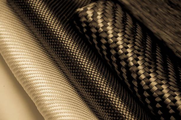 Carbon fiber composite raw material - foto stock