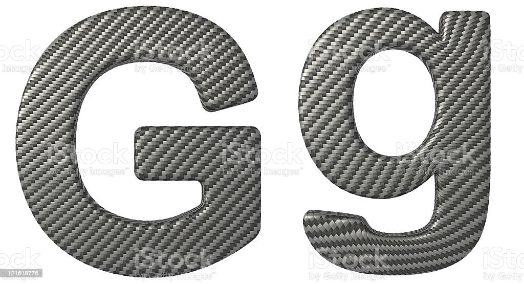 Carbon Fiber Font G Lowercase And Capital Letters Royalty Free Stock Photo