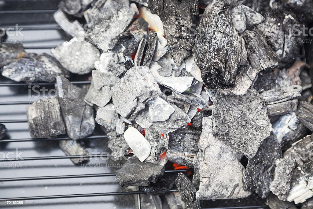 carbon fire for barbecue royalty-free stock photo