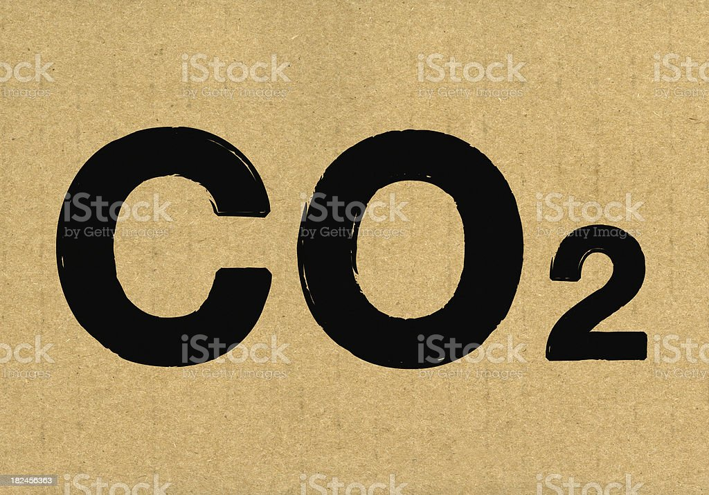 CO2 carbon footpriint royalty-free stock photo