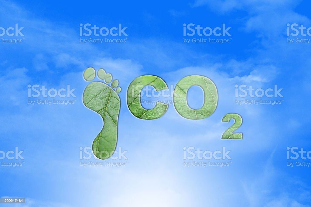 Carbon Footprint Concept stock photo