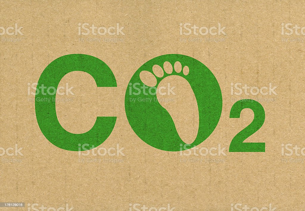 CO2 Carbon Footprint royalty-free stock photo