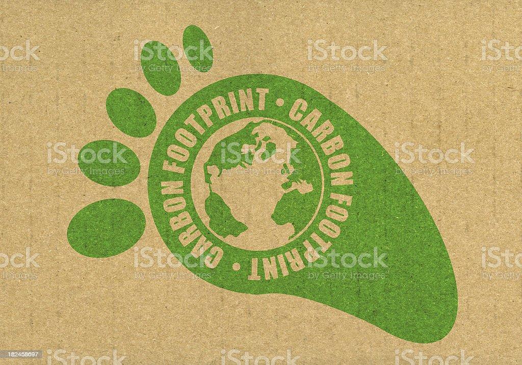 Huella de carbono foto de stock libre de derechos