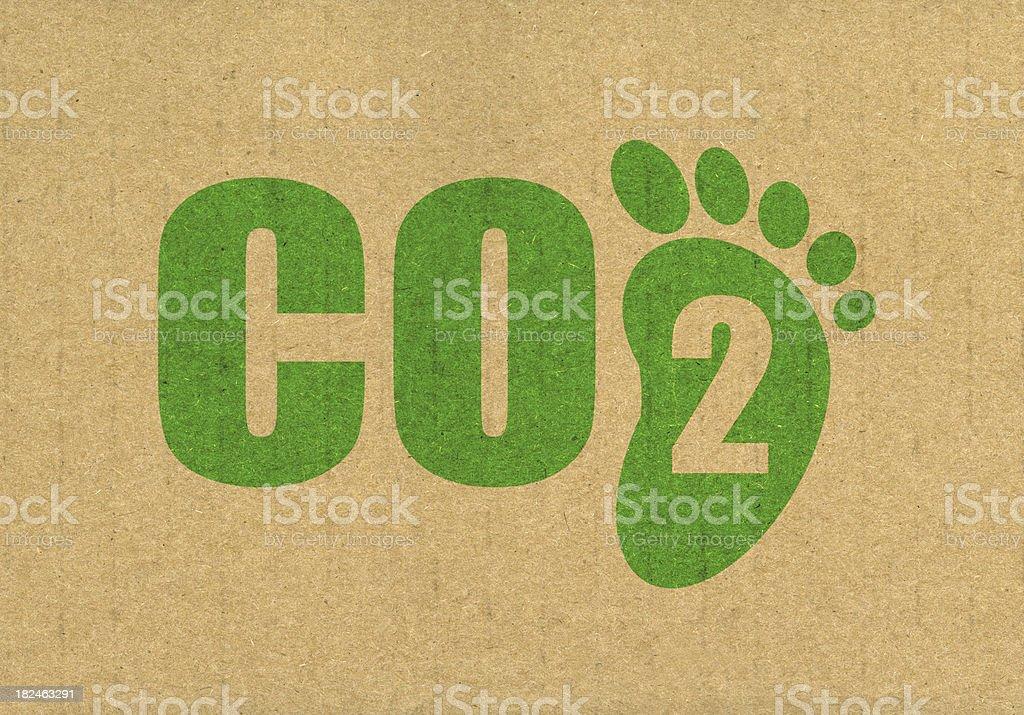 CO2 Carbon Footprint stock photo