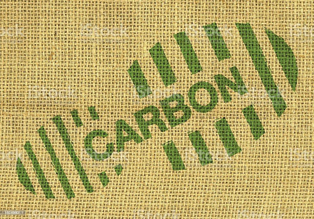 Carbon footprint stock photo