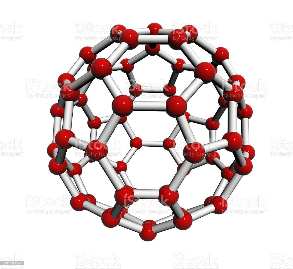 Carbon Mocecule - atom royalty-free stock photo