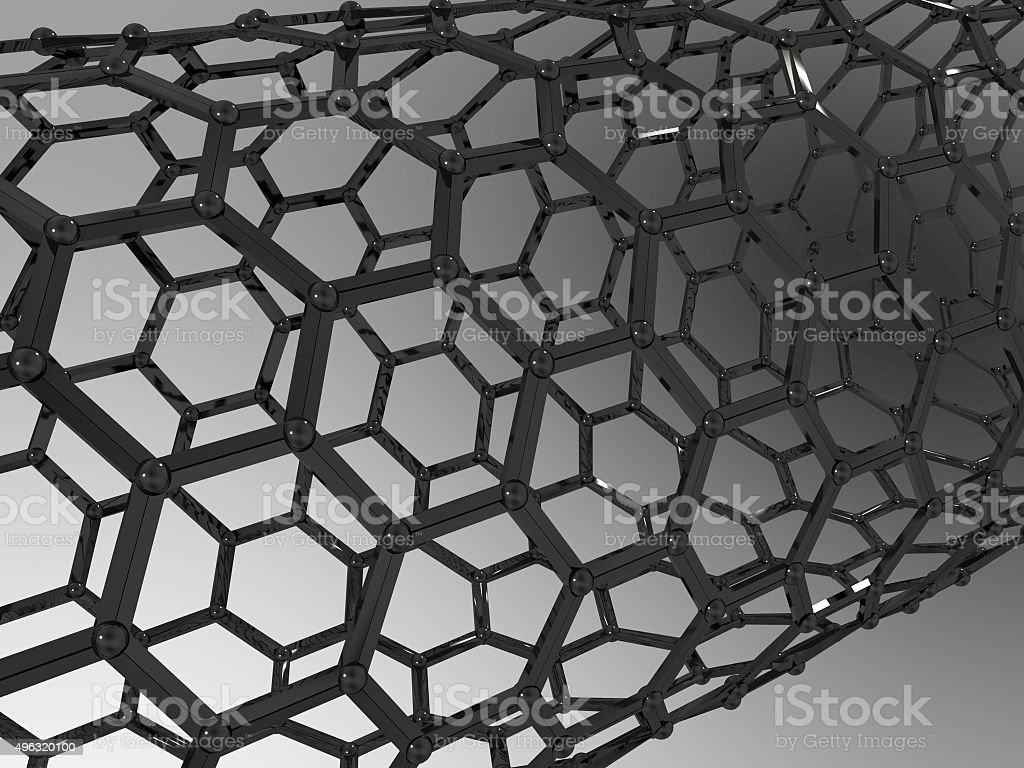 Carbon Nanotube stock photo