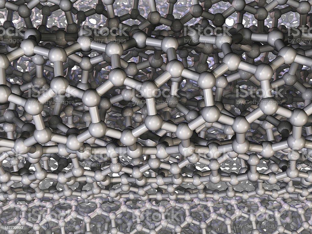 Carbon Nanotubes - Side View stock photo