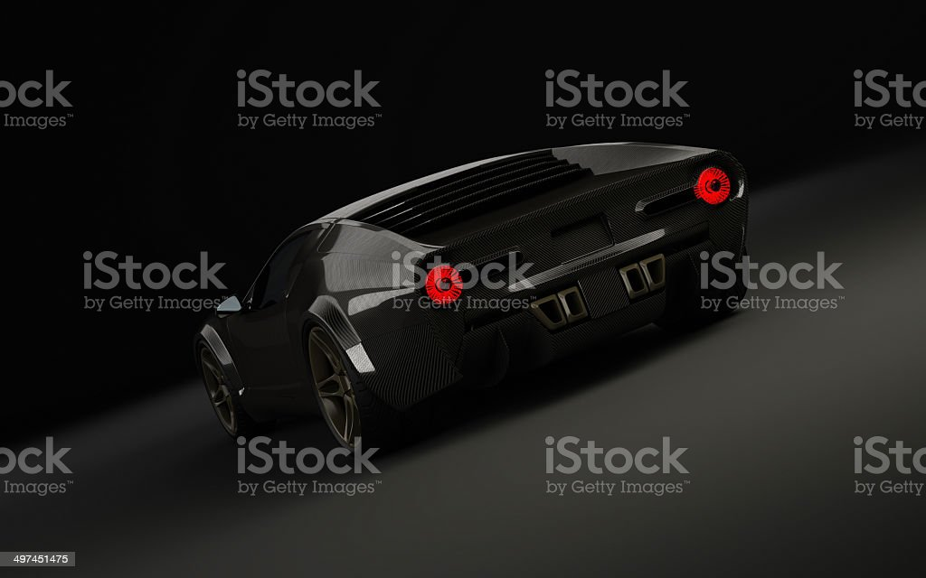 Carbon Sportscar royalty-free stock photo