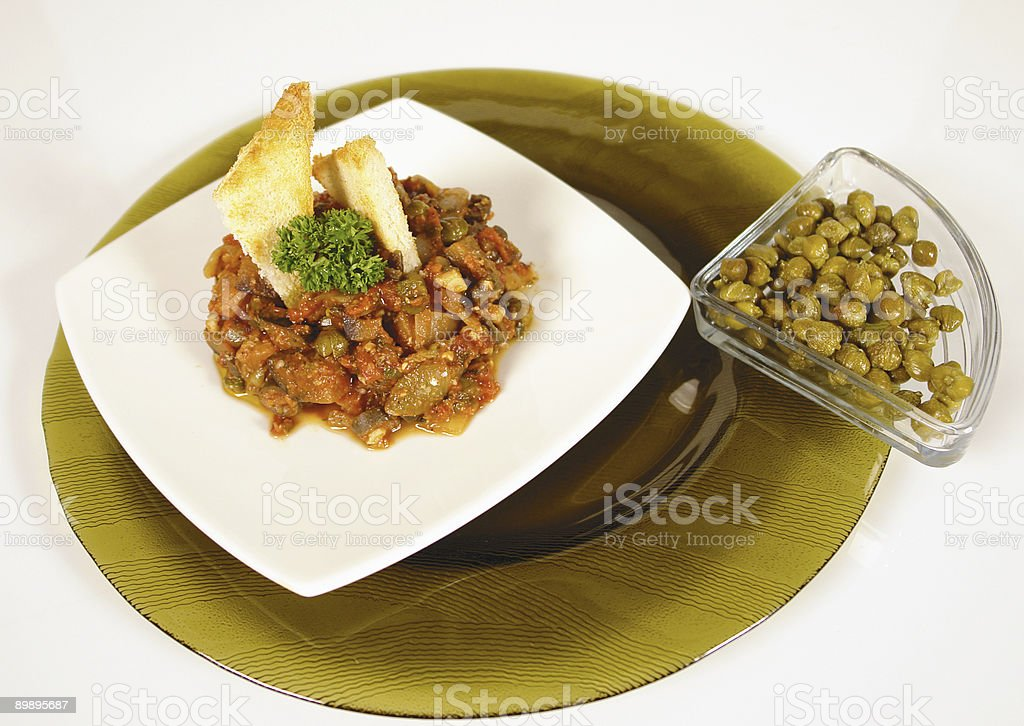 Carbonata with capers royalty-free stock photo