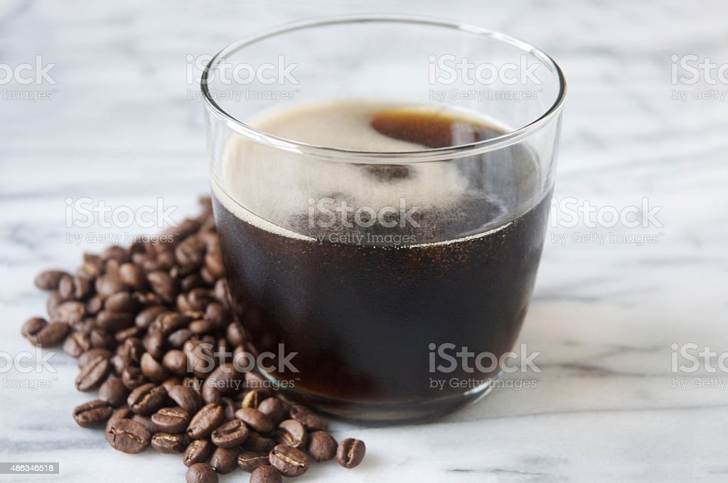 Carbonated Cold Brew Coffee stock photo