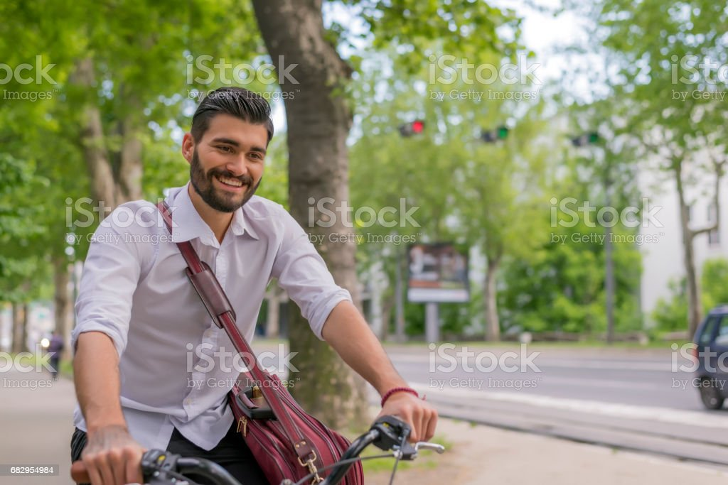 Carbon-free commuting royalty-free stock photo