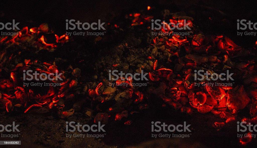 carboni ardenti stock photo