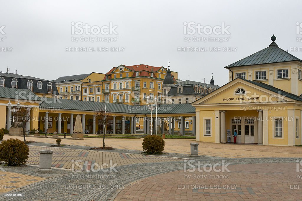 Carbonic Gas Spa Bath in resort Frantiskovy Lazne, Czech Republic. stock photo