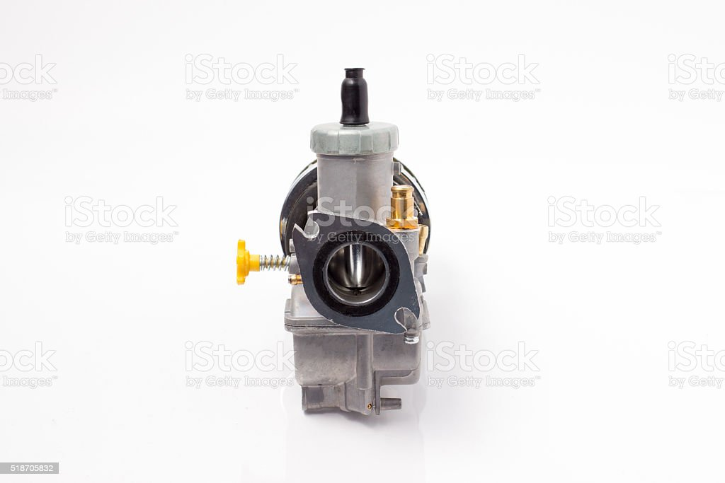 Carburetor and air filter isolated stock photo