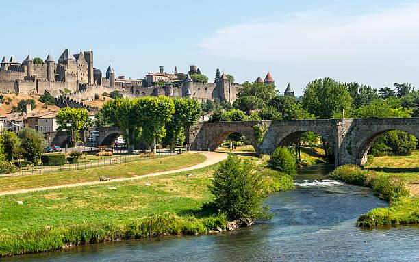 Carcassonne (França) - foto de acervo