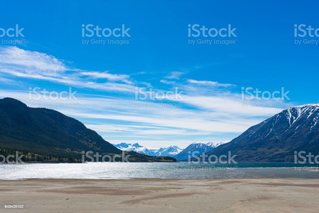 Carcross Beach stock photo
