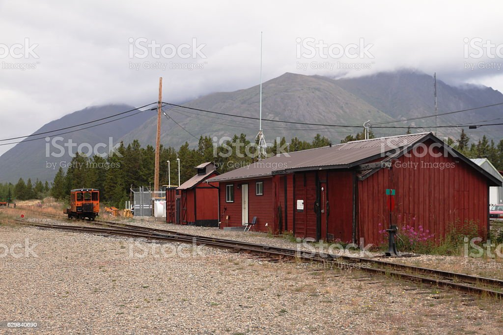 Carcross rail station - Yukon - Canada stock photo