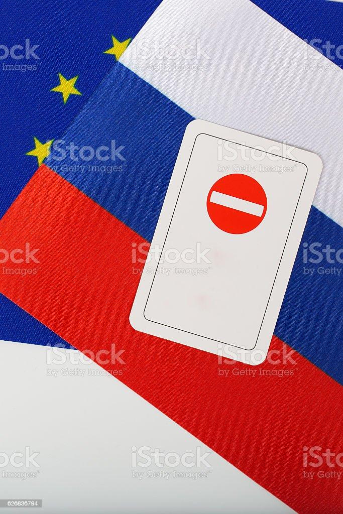 Card - access forbidden stock photo