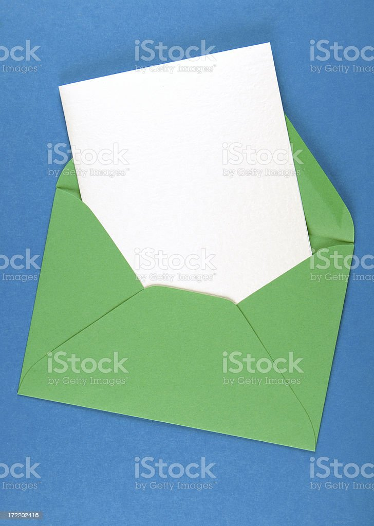 Card and envelope royalty-free stock photo