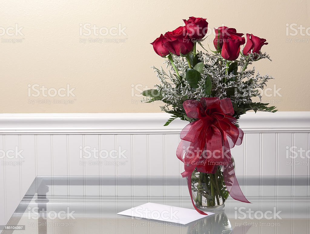 Card and Roses stock photo