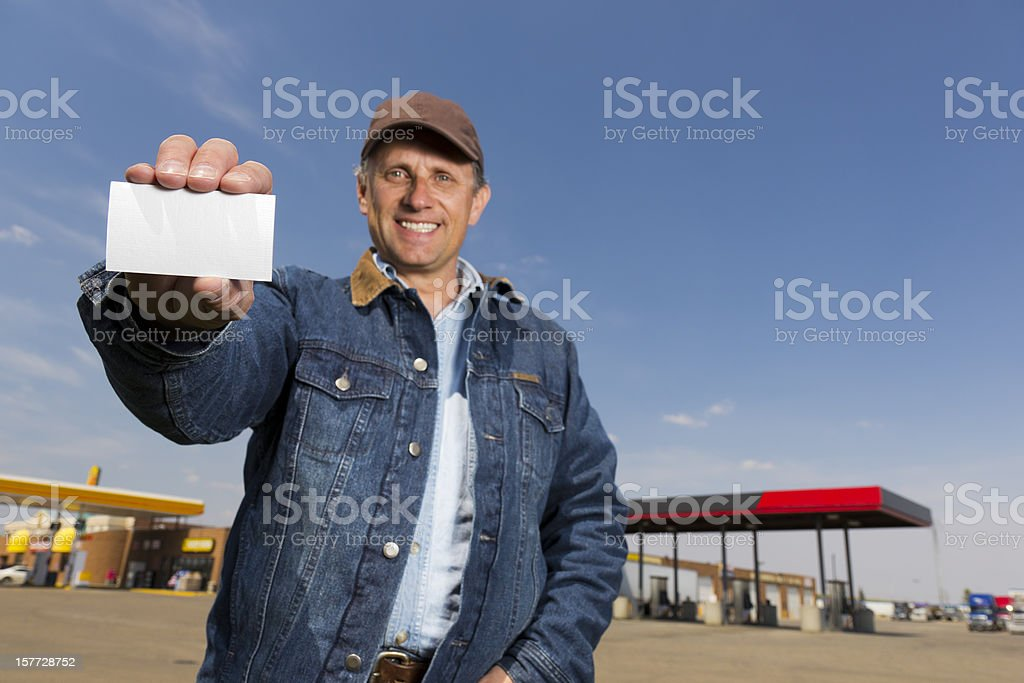 Card at a Truck Stop stock photo