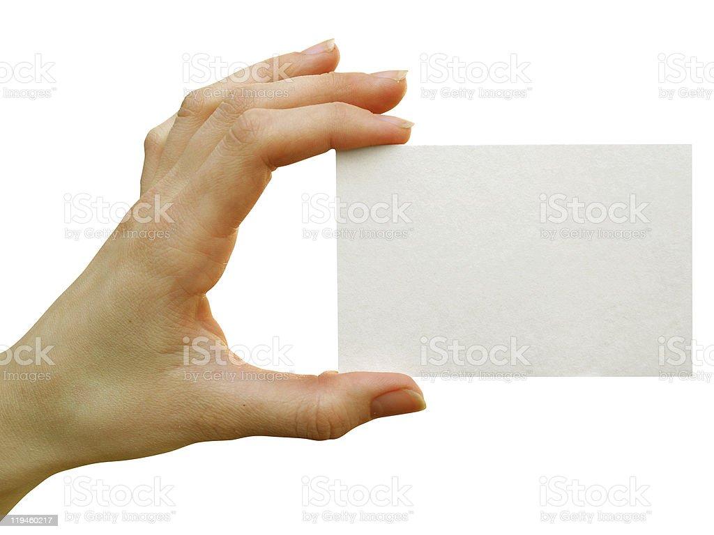 card blank royalty-free stock photo