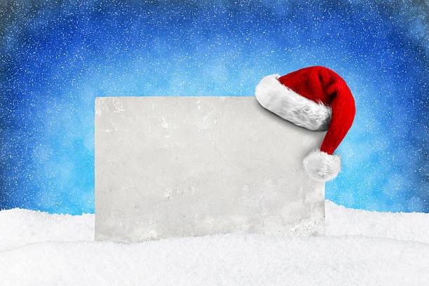 blau schnee weihnachten karte - gutschein weihnachten stock-fotos und bilder