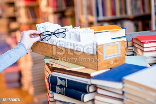 668340340istockphoto Card catalogue at the library 654720876