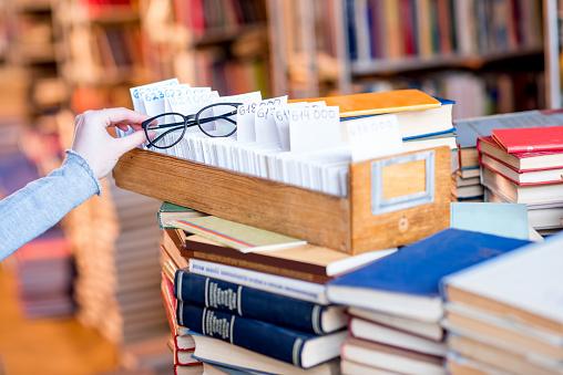 668340340 istock photo Card catalogue at the library 654720876