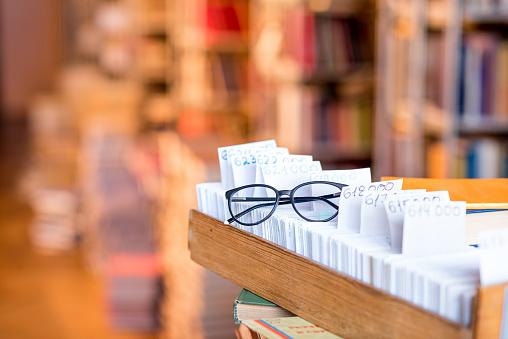 668340340 istock photo Card catalogue at the library 654720906