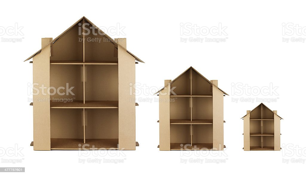 Card Houses stock photo