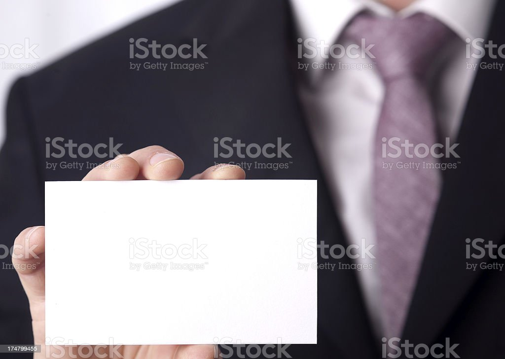 card in a hand stock photo