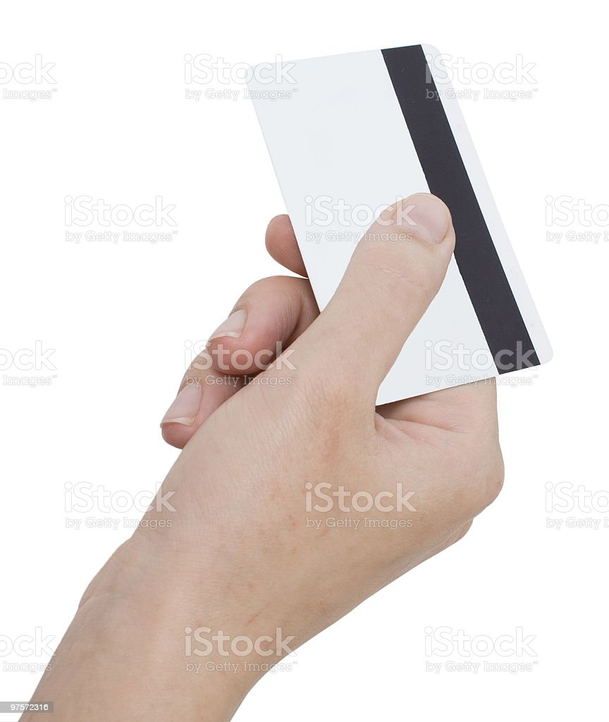 card in a hand royalty-free stock photo