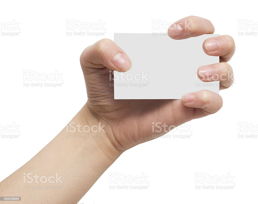 card in hand royalty-free stock photo