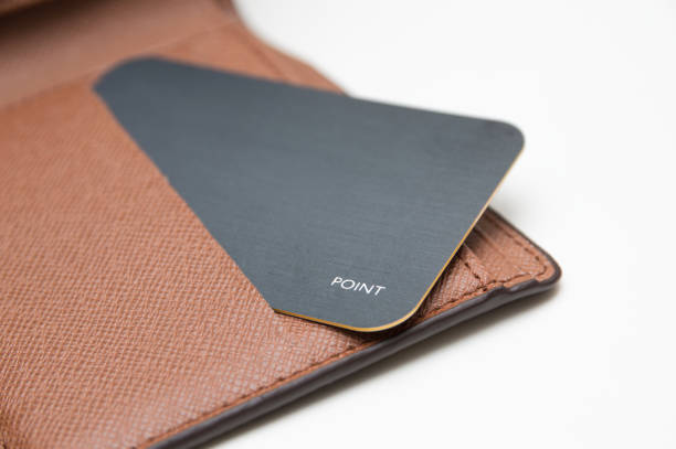 card in wallet on white background - wallet stock pictures, royalty-free photos & images