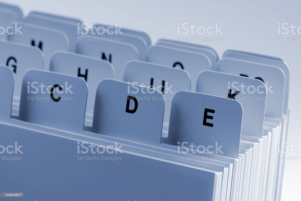 Card index royalty-free stock photo