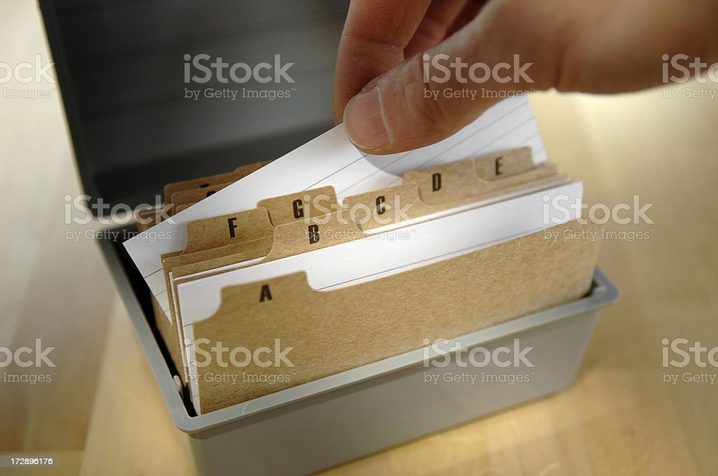 card index series royalty-free stock photo