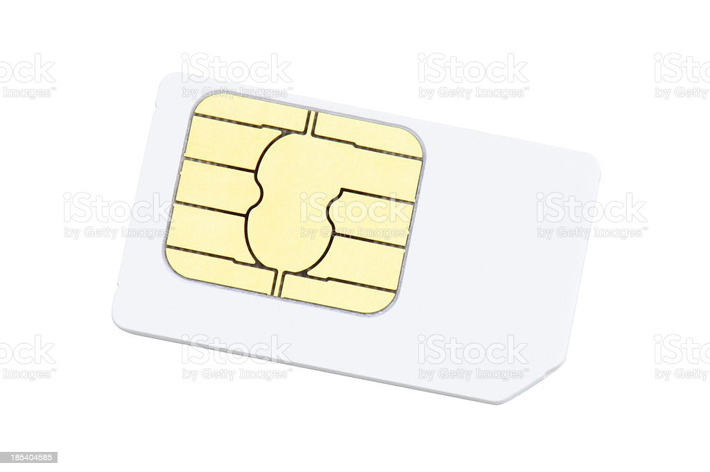 SIM Card - Isolated on White stock photo