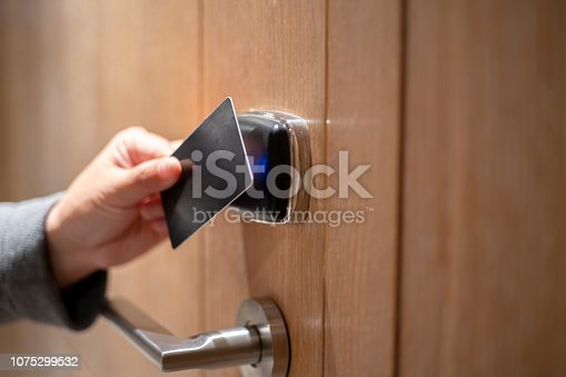card key opening door