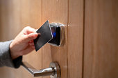 card key opening door