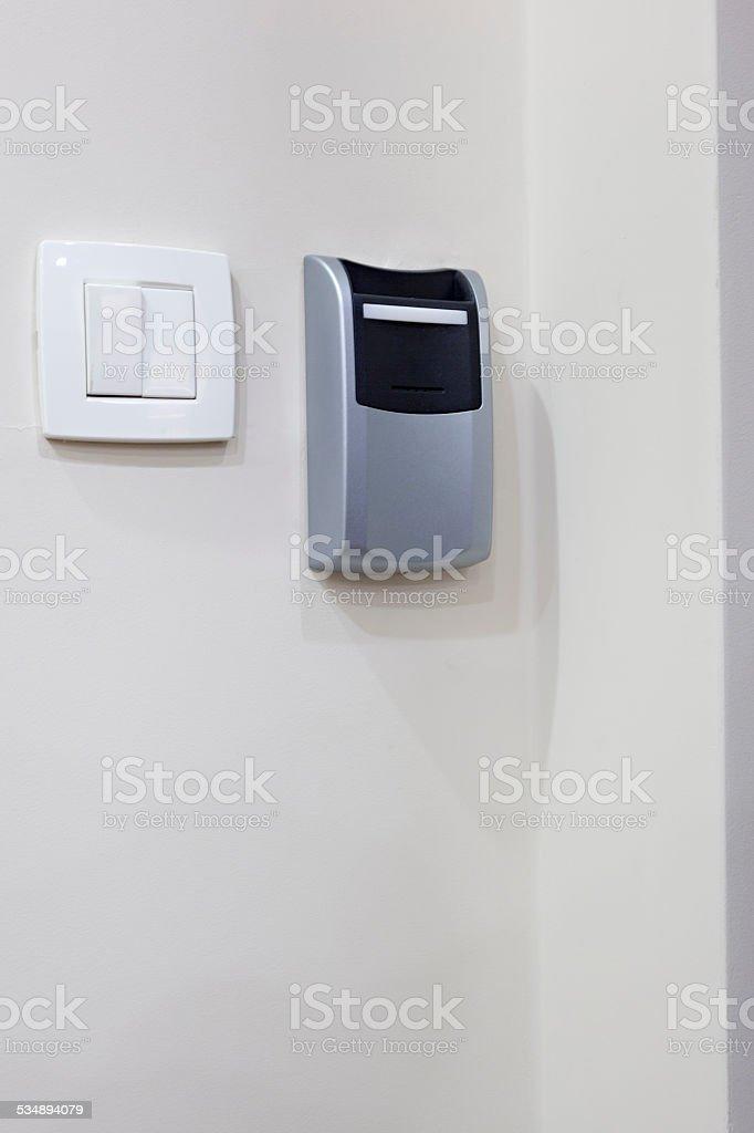 Schlüsselkarte Spielautomaten Und Lichtschalter Im Hotel Zimmer ...