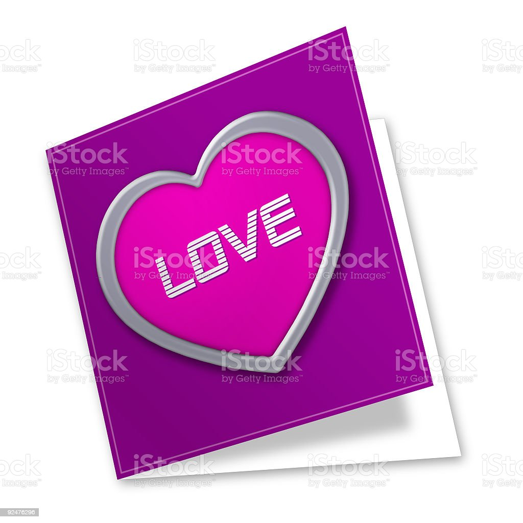 Card: Love royalty-free stock photo