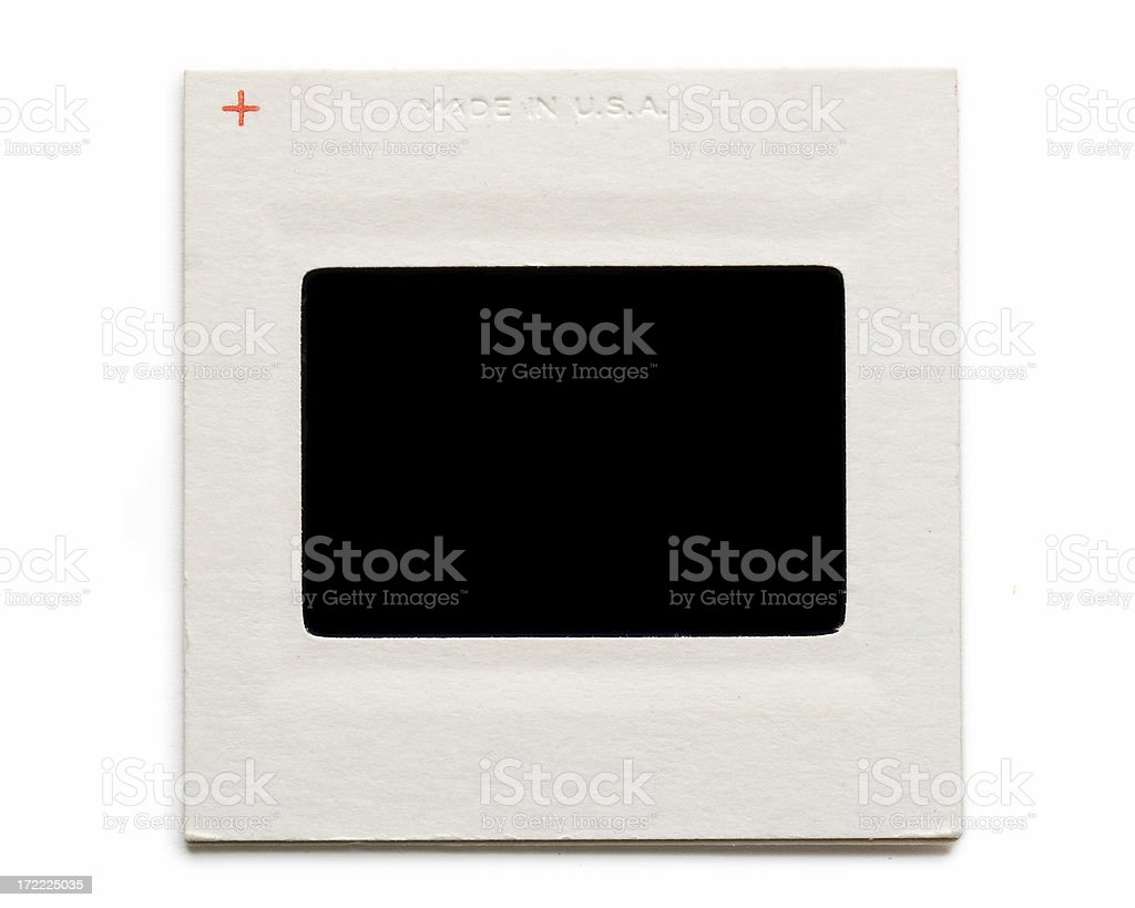 Card mounted Kodachrome slide royalty-free stock photo