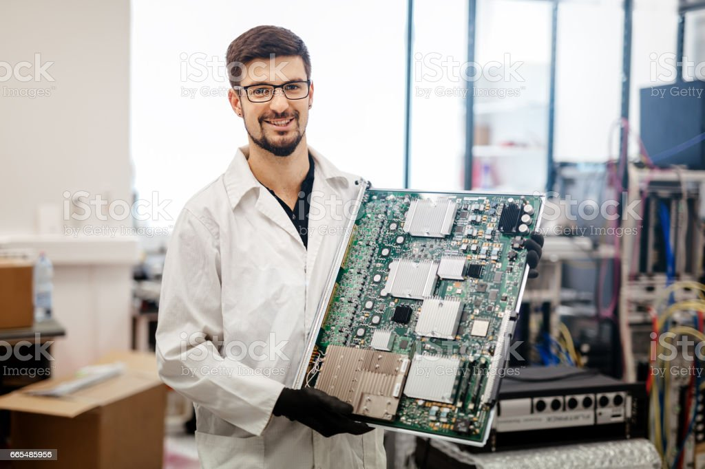 CMTS card needs to be fixed by technician royalty-free stock photo